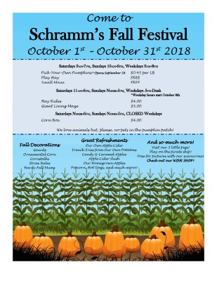 Fall Festival – click in post for detailed schedule!