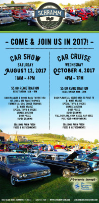 Save the dates! Annual Car Cruises at the farm!