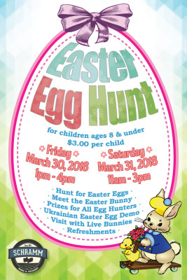 Easter Egg Hunt – March 30 1pm-4pm & March 31 11am-3pm!