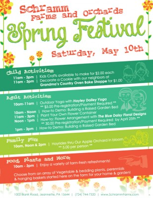Join us to celebrate Spring! Saturday, May 10th