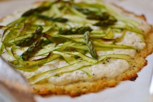 Asparagus Pizza with Cauliflower Crust