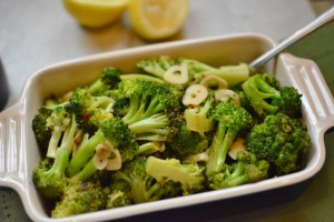 Sautéed Broccoli with Garlic and Lemon