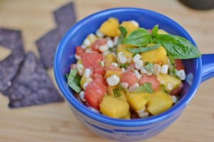 Corn and Peach Salsa