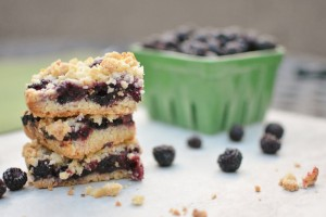 Black Raspberry Crumb Bars