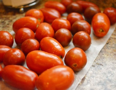 Homegrown Roma Tomatoes