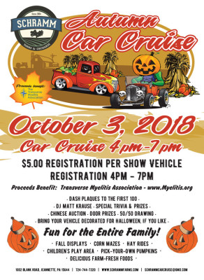 Fall Car Cruise – October 3, 2018  4pm-7pm